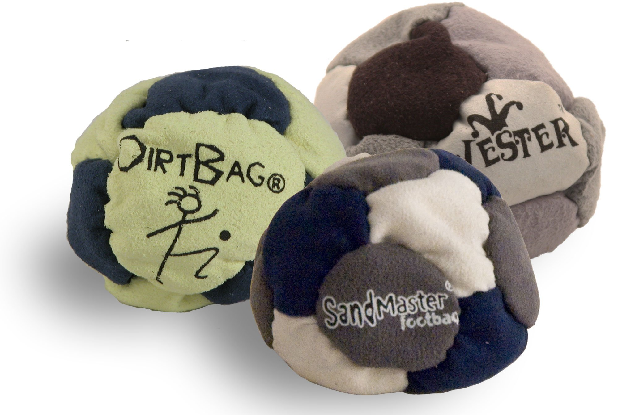 Best Footbags 3 Pack - Set of Three Footbag Favorites (Hacky Sacks) Assorted Colors by The Wright Life
