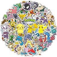 100 stuks Pokemon stickers, vinylstickers, Pikachu trendy stickers voor volwassenen, leuke stickers voor kinderen…