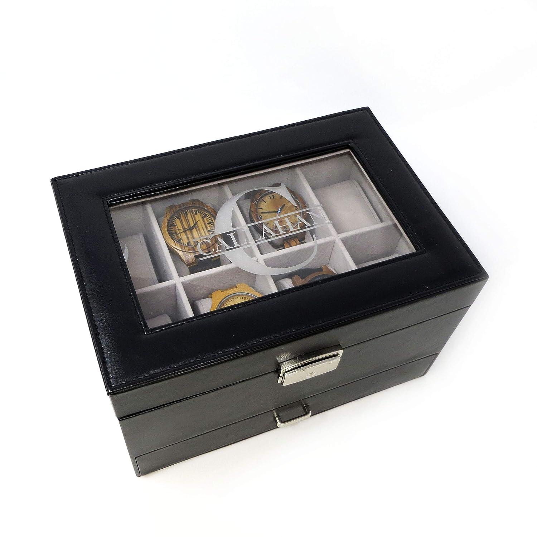 Amazon Com Personalized Watch Box With Jewelry Accessory Drawer