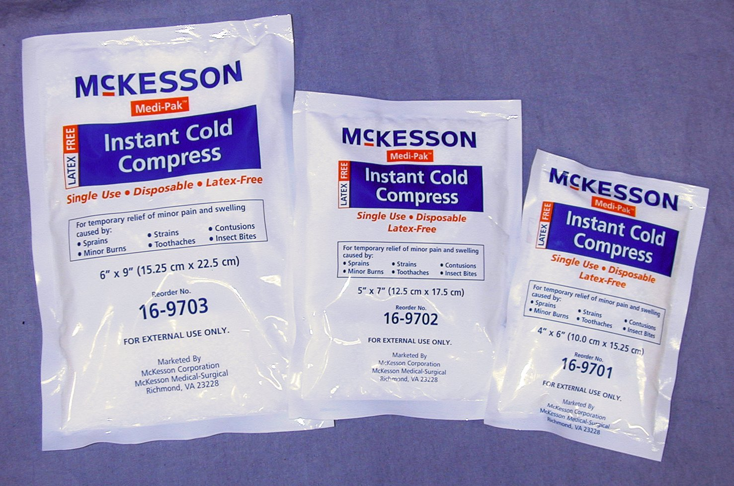 Instant Cold Pack Medi-Pak General Purpose 6 X 9 Inch Disposable - 24 Per Case by McKesson (Image #1)