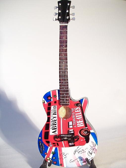 Mini guitarra de colección - Replica mini guitar - The Beatles - Tribute - Abbey Road