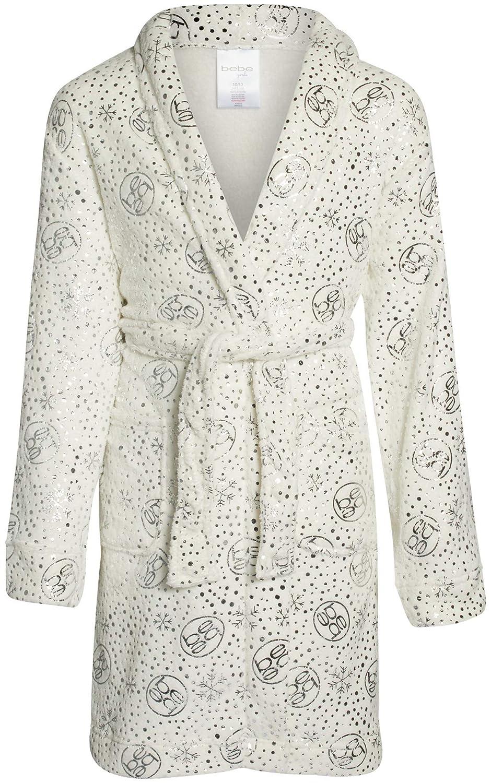 bebe Girls Ultra Soft Plush Robe with Pockets