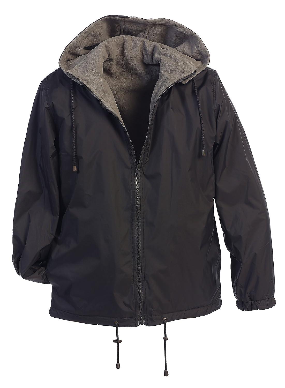 Gioberti Men's Reversible Rain Jacket with Polar Fleece Lining China JA-946