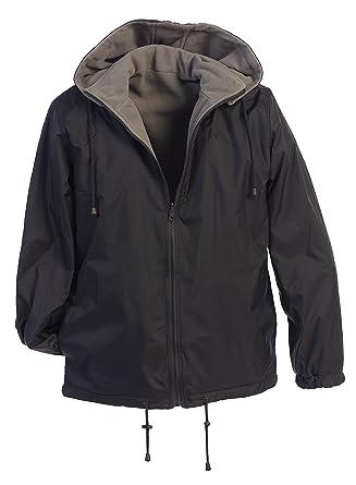 0264cb3c0 Gioberti Men's Reversible Rain Jacket with Polar Fleece Lining,  Charcoal/Gray, ...