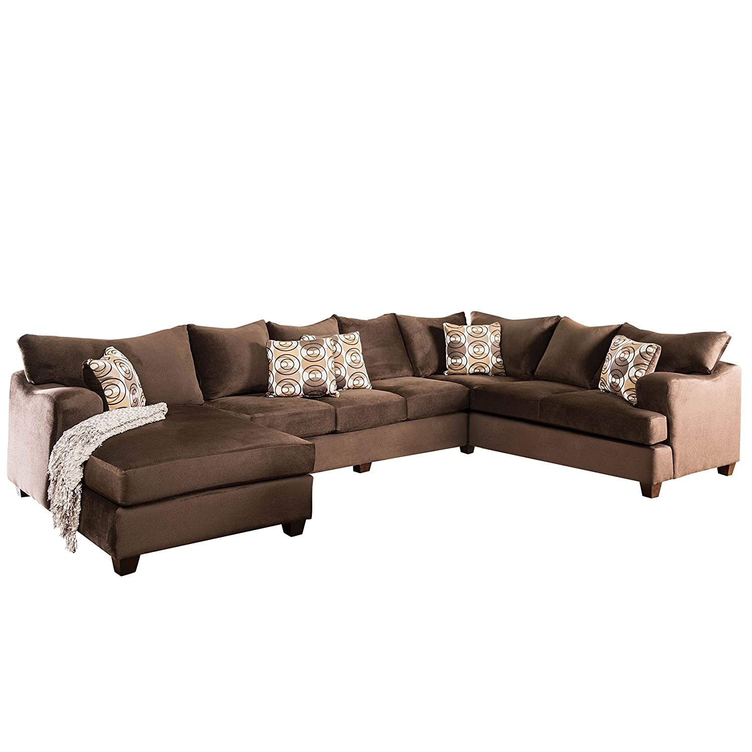 Amazon.com: Furniture of America Nisha I Modern Chocolate ...