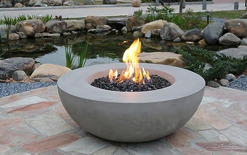 Elementi Lunar Bowl Cast Concrete Fire Pit