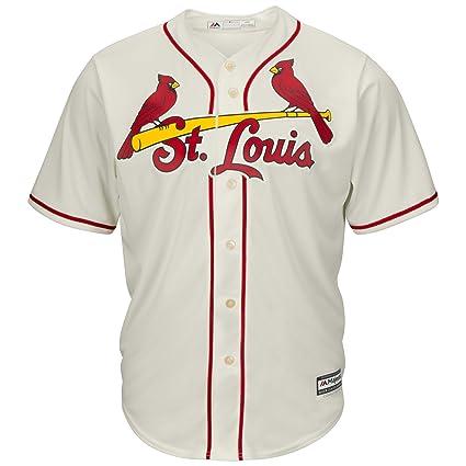 new styles 07b35 824a4 Majestic St. Louis Cardinals Cool Base Ivory Alternate Tackle Twill  Baseball Jersey