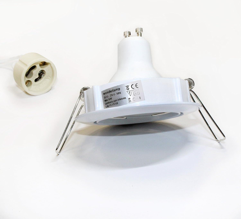 4000K W-E000052 Empotrable redondo Flujo Luminoso : 410 Lm Di/ámetro: /Ø 9 cm bombilla  8W neutra Taladro: 8 cm.