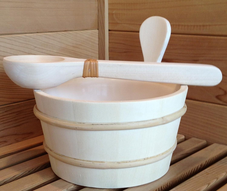 1 Gallon Aspen Sauna Bucket, Plastic Liner with Aspen Dipper The Sauna Place