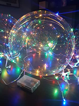 Globo hinchable para fiesta de cumpleaños, cable de luz LED ...