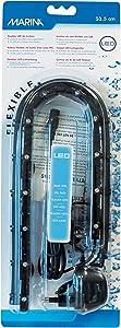 Marina LED Curtain Betta Aquarium Air Pump, 21-Inch, Blue