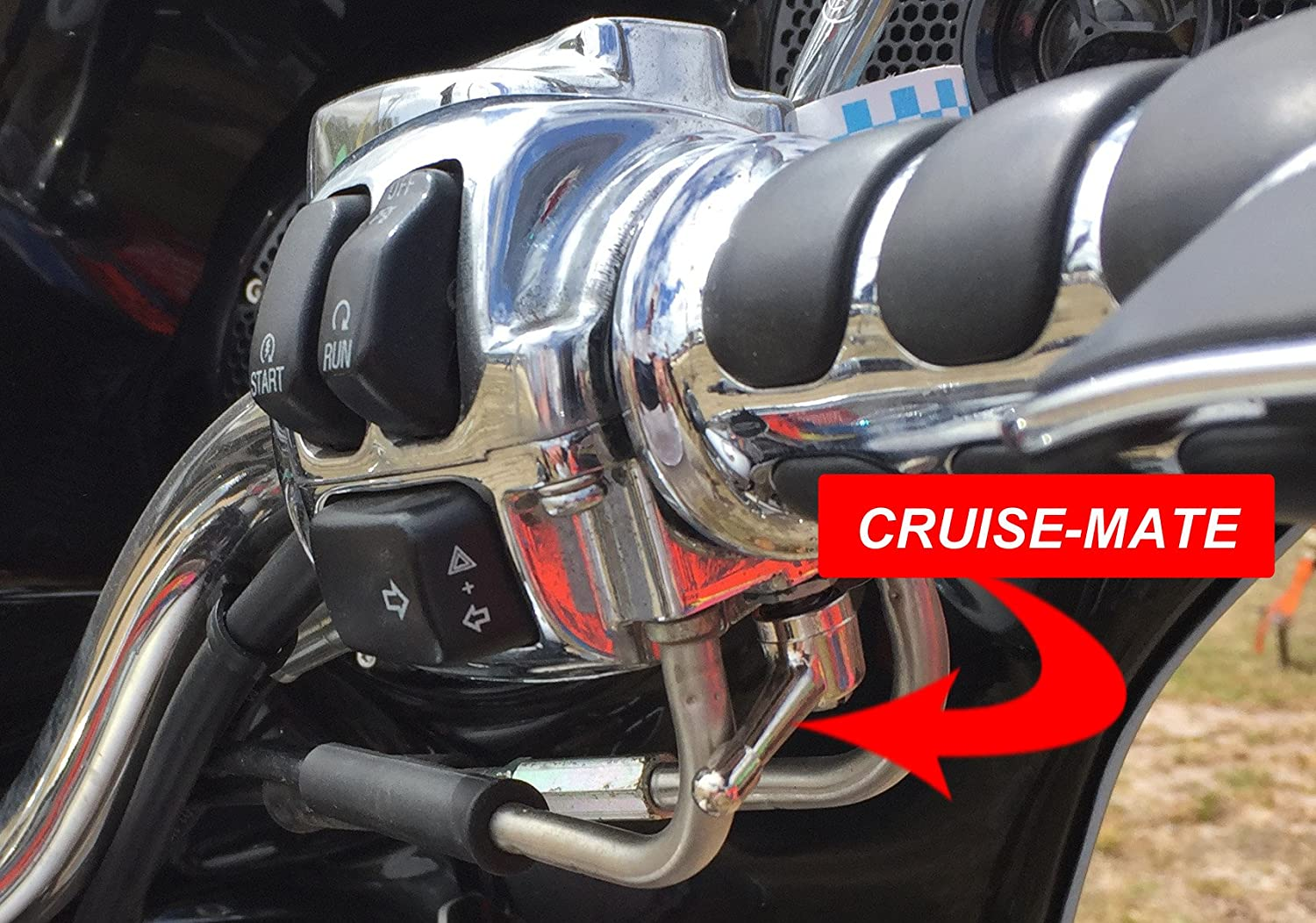 Present Cruise-Mate Chrome for Harley-Davidson motorcycles 1996 except 2014 + touring models Road King, Road Glide, Street Glide, Electra Glide