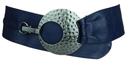 Cintura fusciacca in pelle con grande fibbia da donna in diversi colore
