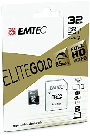 Emtec 32 gb sdxc class 10 uhs i flash memory card with adapter emtec 32 gb sdxc class 10 uhs i flash memory card with adapter gold reheart Choice Image