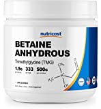 Nutricost Betaine Anhydrous Trimethylglycine (TMG) Powder 500 Grams