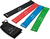 Resistance Loop Bands - Set of 4 or 5 Exercise Bands for Improving Mobility and Strength, Yoga, Pilates or for Injury Rehabilitation - Suitable for Women and Men - Made From Natural Latex Material