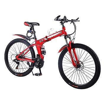 KVIONE E9 Hombres Bicicleta montaña Doble suspensión Bicicleta ...