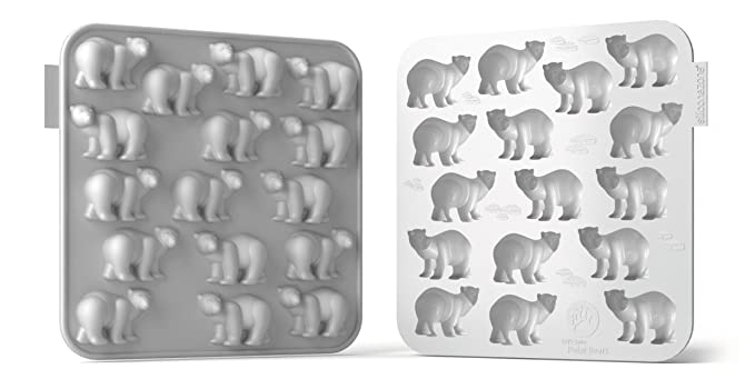 "Siliconezone My Animals Collection 6.9"" Non-Stick Silicone Polar Bear Chocolate Mold, White Bakeware Moulds & Tins at amazon"