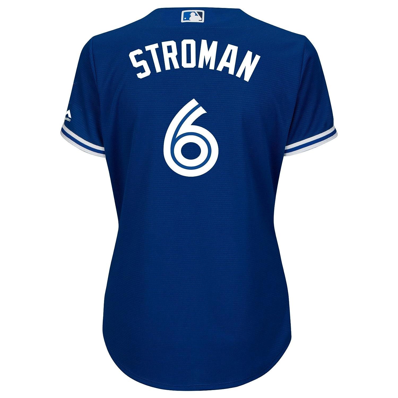 Ladies Marcus Stroman Toronto Blue Jays Cool Base Replica Away Jersey