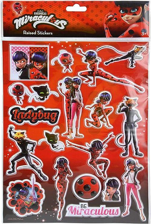 Amazon.com: Miraculous Ladybug & Cat Noir - Set de papelería ...
