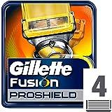 Gillette Fusion ProShield - Cuchillas de recambio para maquinilla de afeitar (4 recambios)