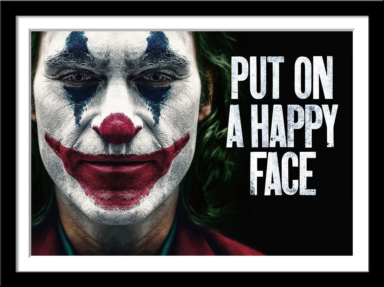 Put on a happy face Joker film Joaquin Phoenix CANVAS WALL ART Picture Print