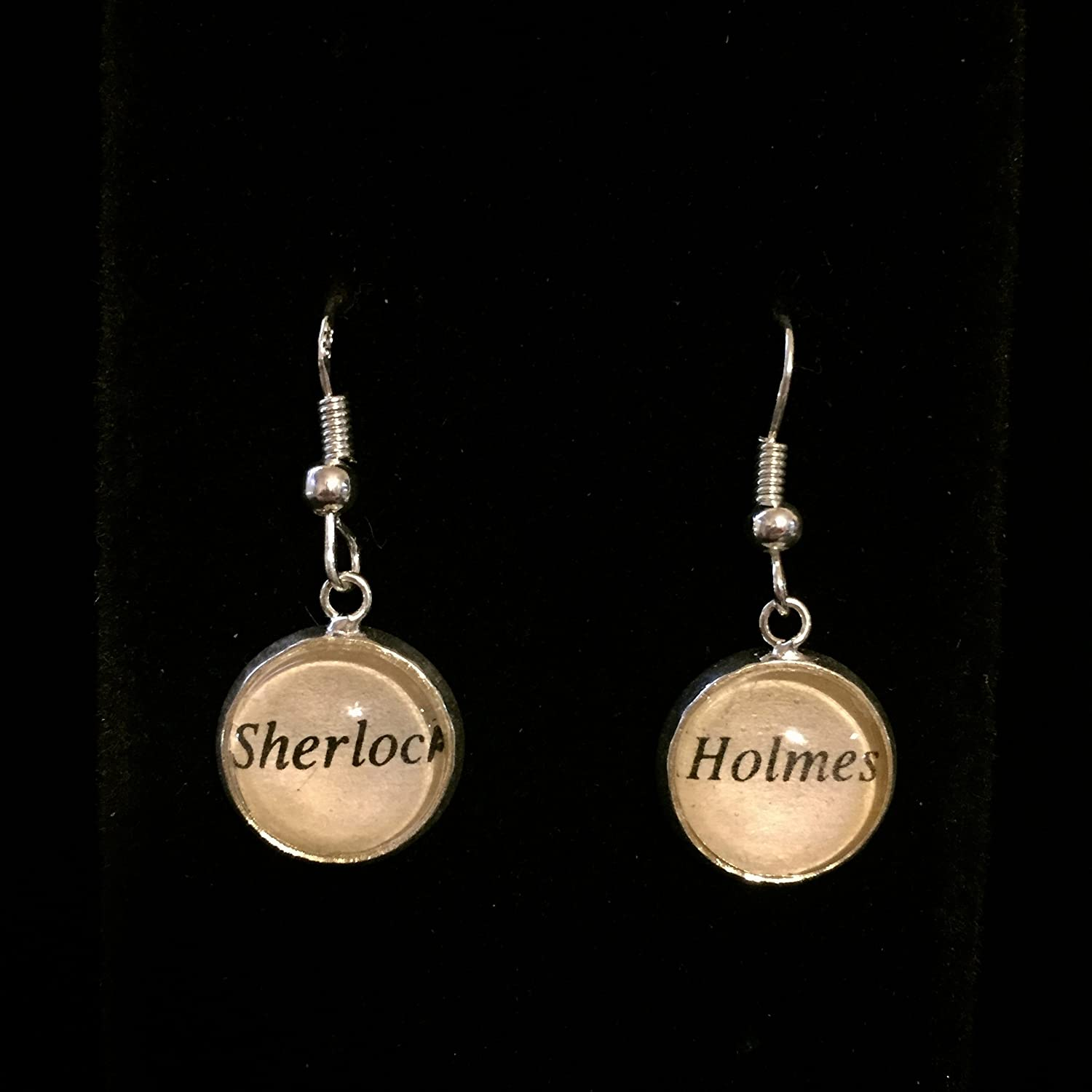 Sherlock Holmes Earrings with Sterling Silver Hooks