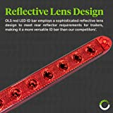 "2pc 16"" 11 LED Red Trailer Light Bar [Waterproof"