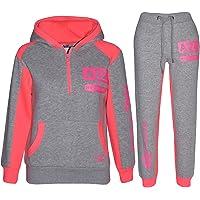 Kids Tracksuit Boys Girls Designer's Zipped Top Bottom Jogging Suit 7-13 Years