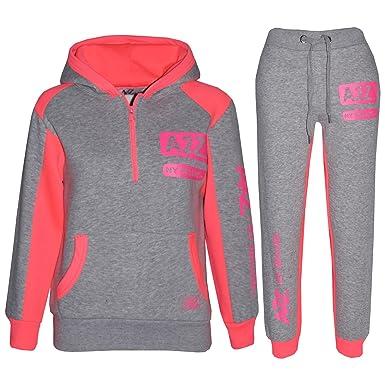 Desconocido A2Z 4 Kids® - Chándal - para niña Grey & Neon Pink 5-6 ...