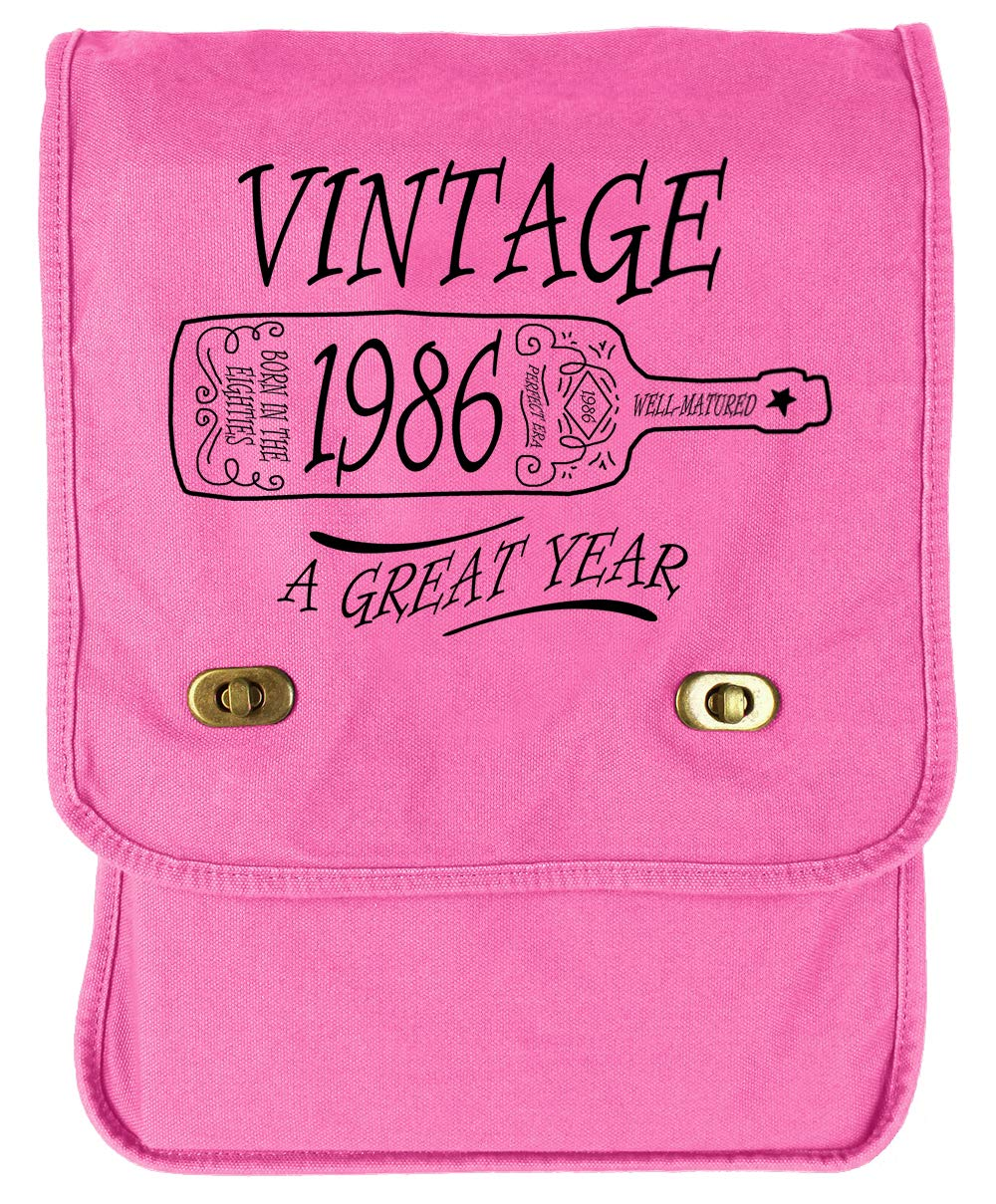 Tenacitee Aged Like a Fine Wine 1986 Green Brushed Canvas Messenger Bag