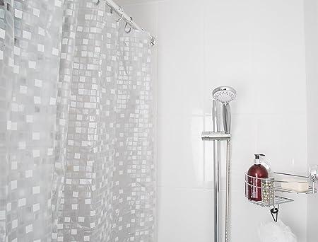 Croydex AE543440 - Cortina de Ducha de PVC con diseño de Mosaico ...
