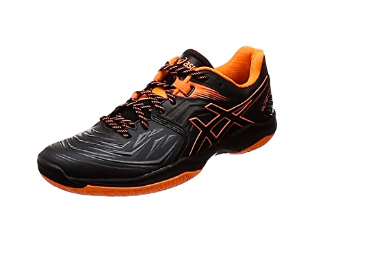 Asics Blast FF, Zapatillas de Balonmano para Hombre, Negro (Black/Shocking Orange