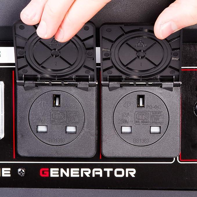 B/öhmer-AG 6500W-e Benzin Stromerzeuger Stromgenerator 3,5 kVA 8 PS Stromerzeuger elektrische Z/ündung