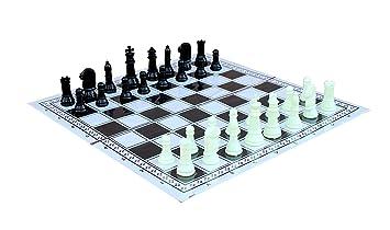 StonKraft Tournament Chess Foldable Chess Game Set with Plastic Staunton - 11.75 X 11.75