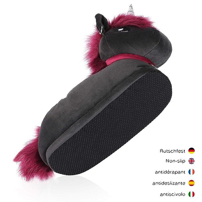 Katara Plüsch Hausschuhe Einhorn Ruby EU Gr. 36 45