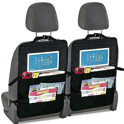 2 x Coche asiento trasero Organizador y asiento trasero soporte para Tablet para niños