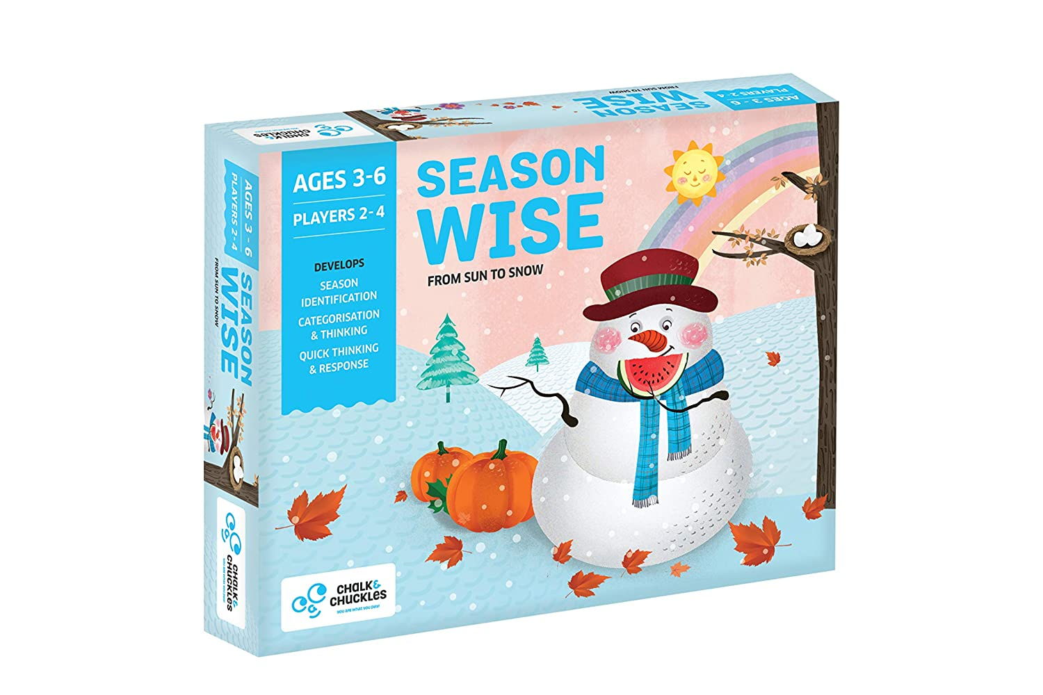 American Educational Products CC-028 Season Wise Activity Set Chalk and Chuckles
