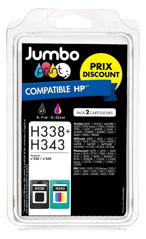 Jumbo Print JP001837 - Pack de 2 cartuchos de tinta, compatibles ...
