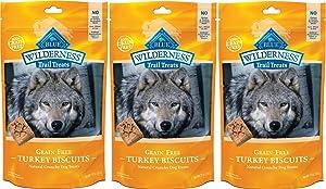 Blue Buffalo Wilderness Trail Treats Grain Free Turkey Biscuits Dog Treats 30 OZ Made in USA