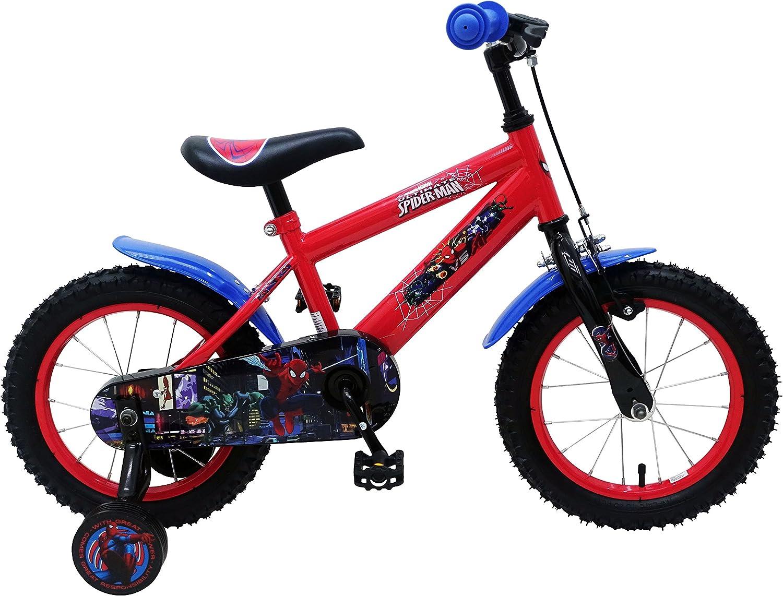 Bicicleta Infantil Chico Hombre Araña Spiderman 14 Pulgadas con ...