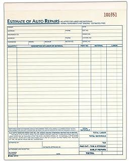 Amazon.com : Auto repair Estimate Form : Blank Purchase Order ...