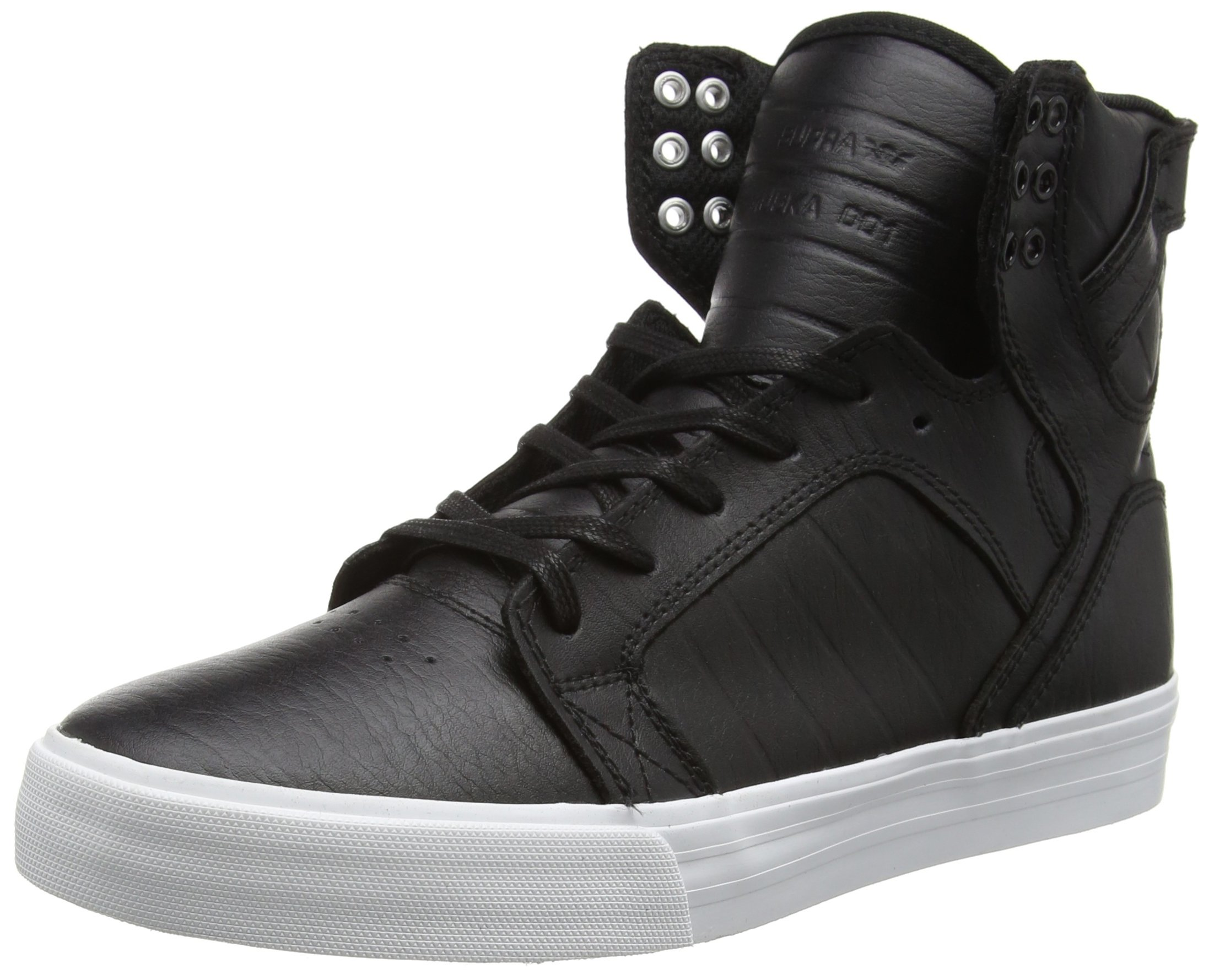 SUPRA Skytop Skate Shoe, Black/White, 15 Regular US