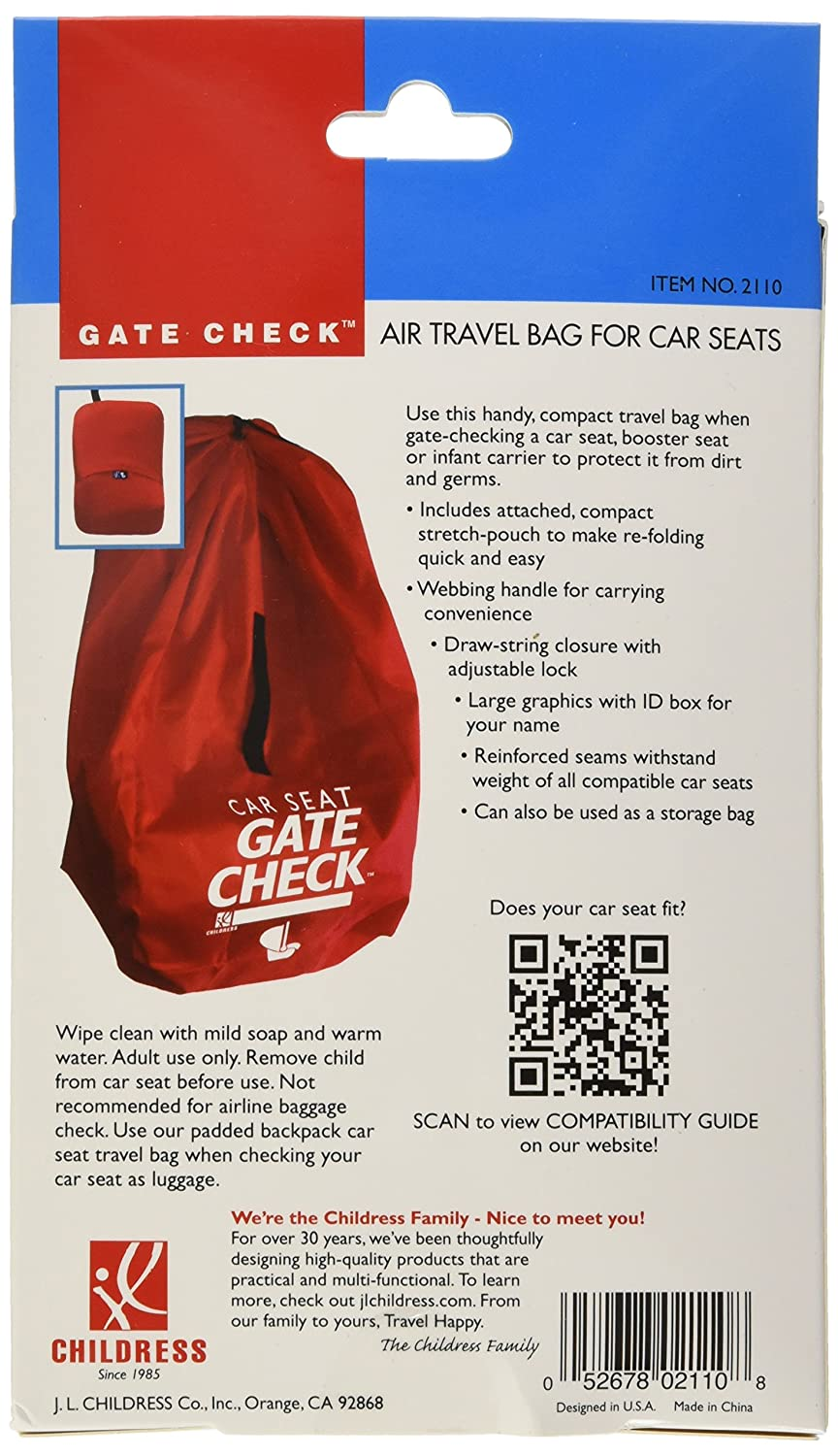 JL Childress Gate Check Bag For Car Seats Red Amazonau Baby
