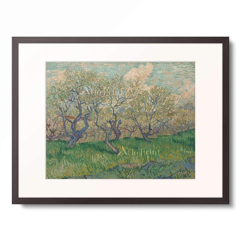 フィンセントファンゴッホ Vincent Willem van Gogh 「Orchard in Blossom」 額装アート作品 B07PD9S53Z 03.木製額 12mm(墨) M(額内寸 379mm×288mm) M(額内寸 379mm×288mm)|03.木製額 12mm(墨)
