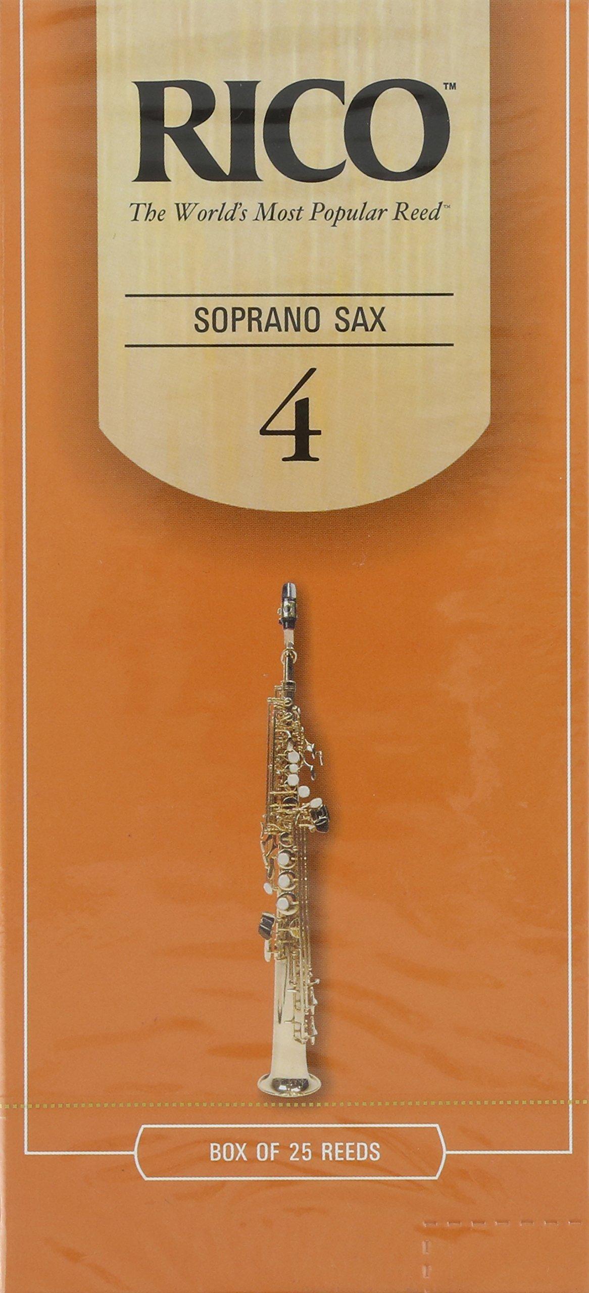 Rico Soprano Sax Reeds, Strength 4.0, 25-pack