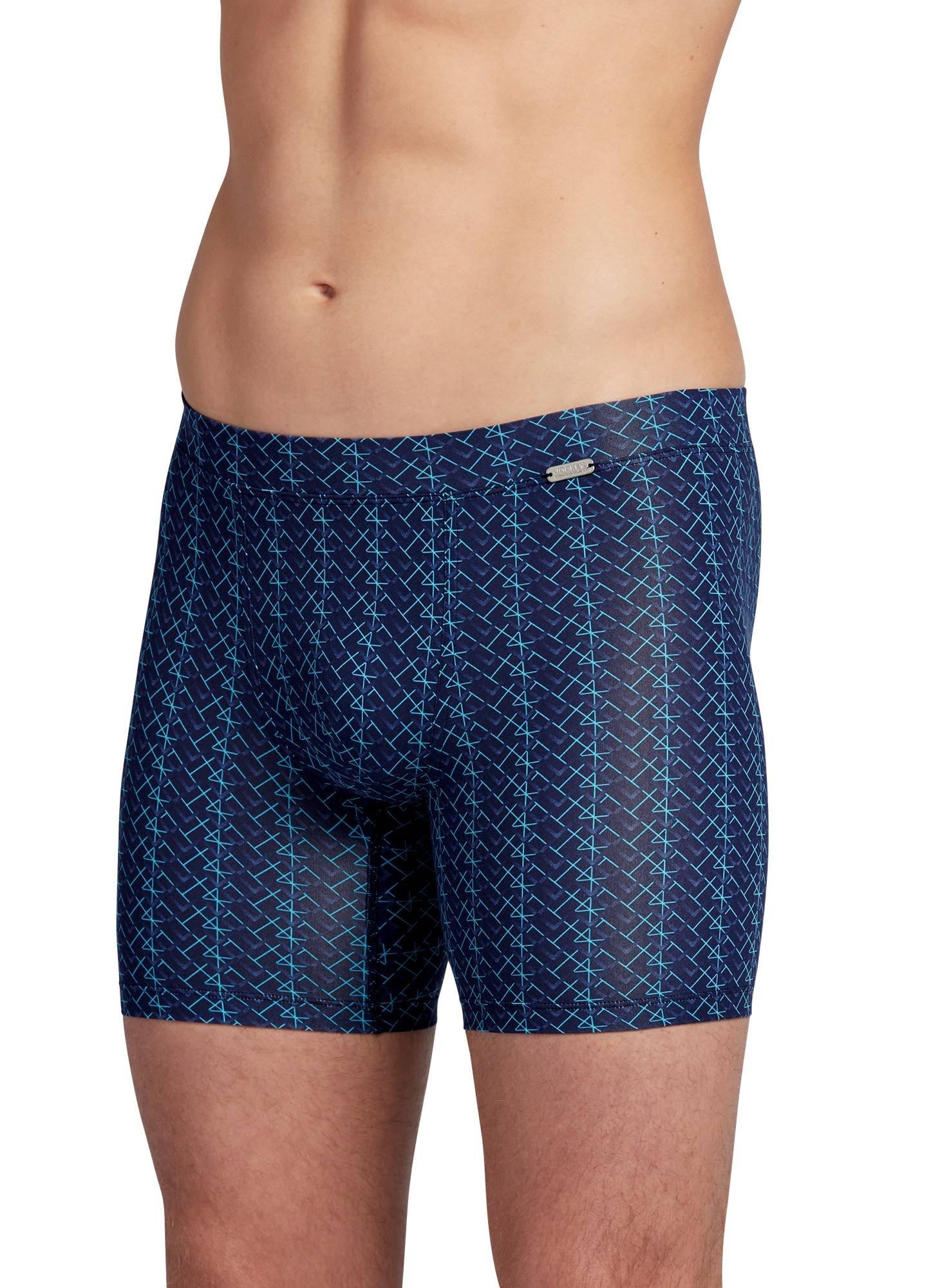Jockey Men's Underwear Travel Microfiber Boxer Brief, Eclipse, L