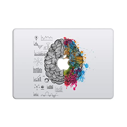 Artsybb laptop stickers macbook decal removable vinyl decal w glowing apple logo diecut
