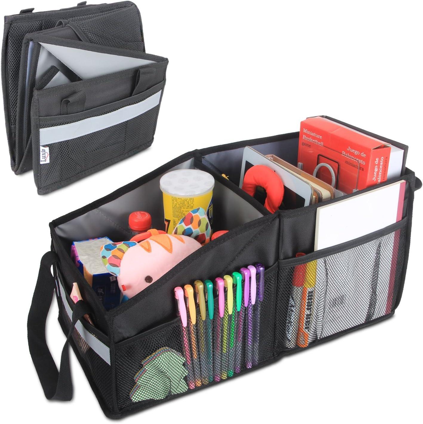 Luxja Kofferraumtasche Für Auto Tasche Für Den Kofferraum Auto Kofferraumtasche Aufbewahrung Für Rücksitz Schwarz Auto