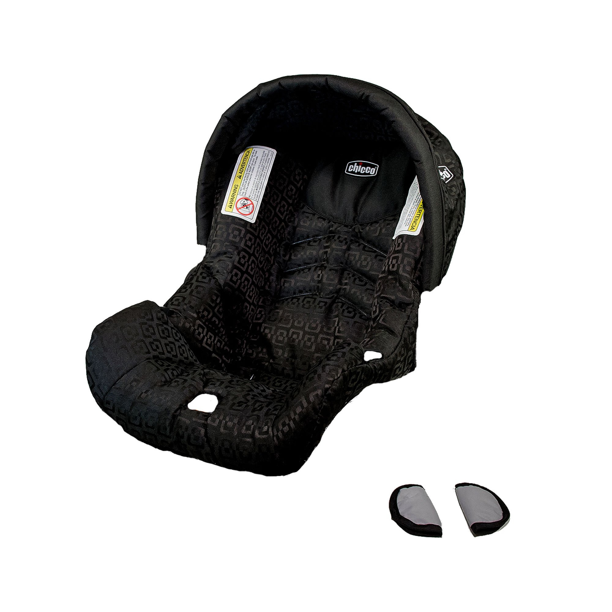 Replacement Chicco KeyFit Car Seat Cover, Canopy, and Shoulder Pads - Ombra